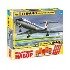 Звезда Самолет пассажир. ТУ-134 с красками
